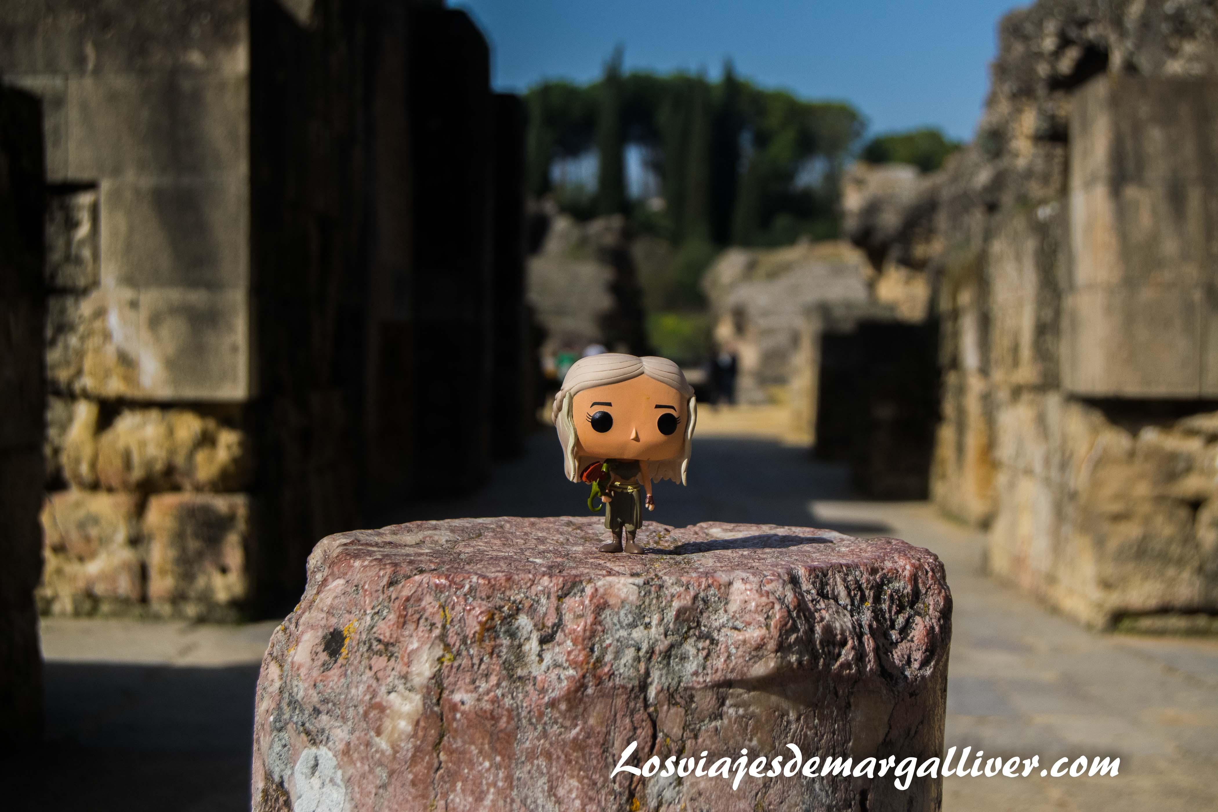 Daenerys en el anfiteatro de Italica en la ruta de Juego de Tronos - Los viajes de Margalliver